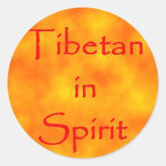 Tibetan in Spirit-sticker Classic Round Sticker