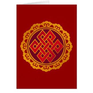Tibetan Karma Buddhism Eternal Knot Card