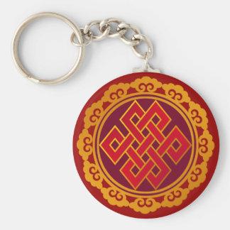Tibetan Karma Buddhism Eternal Knot Keychain