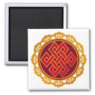 Tibetan Karma Buddhism Eternal Knot Magnet