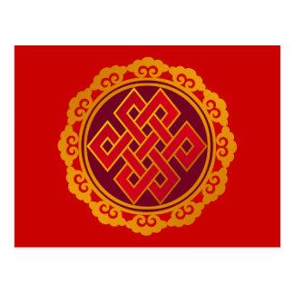Tibetan Karma Buddhism Eternal Knot Postcard