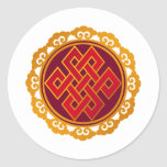 Tibetan Karma Buddhism Eternal Knot Stickers