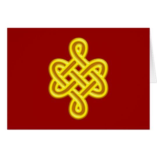 Tibetan luck knot pan zhang card