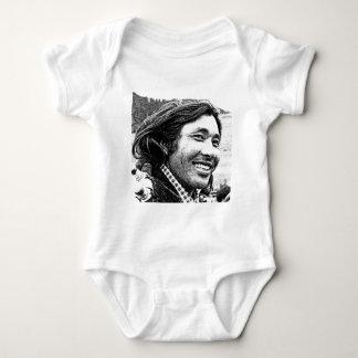 Tibetan man baby bodysuit