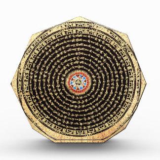 Tibetan Mandala Art (Gold & Black) Acrylic Award