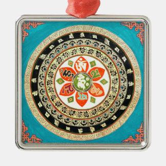 Tibetan Mandala Art Metal Ornament