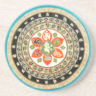 Tibetan Mandala Art Sandstone Coaster