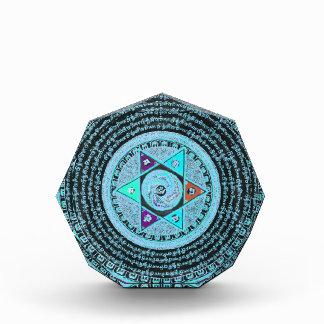 Tibetan Mandala Art (Turquoise & Black) Award