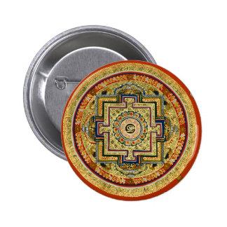 Tibetan Mandala Button