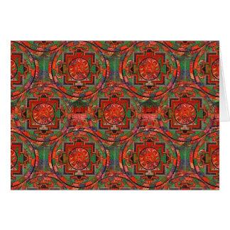 Tibetan Mandala Card
