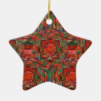 Tibetan Mandala Ceramic Ornament