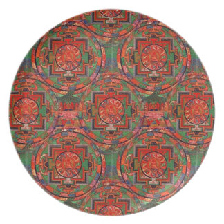 Tibetan Mandala Dinner Plate
