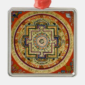 Tibetan Mandala Metal Ornament
