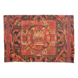 Tibetan Mandala Thangka Art Pillow Case