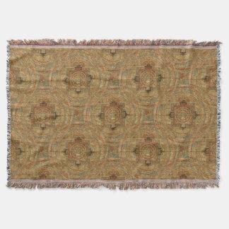 Tibetan Mandala Throw Blanket