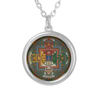 Tibetan Mandala (Yamantaka) Silver Plated Necklace