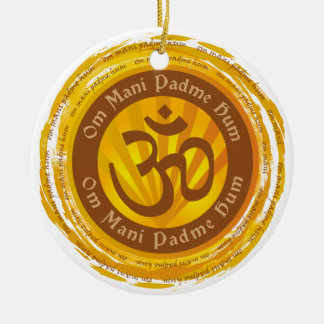 Tibetan Mantra Aum Symbol Ceramic Ornament