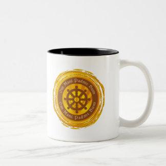 Tibetan Mantra Dharma Wheel Coffee Mugs