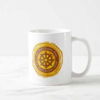 Tibetan Mantra Dharma Wheel Mug