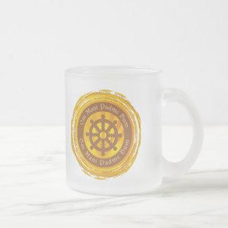 Tibetan Mantra Dharma Wheel Mugs