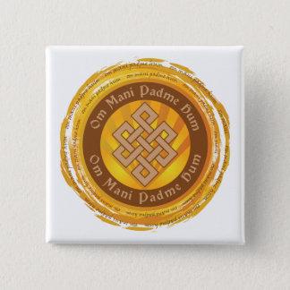 Tibetan Mantra Endless Knot Button