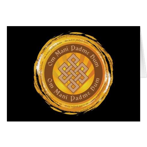 Tibetan Mantra Endless Knot Cards