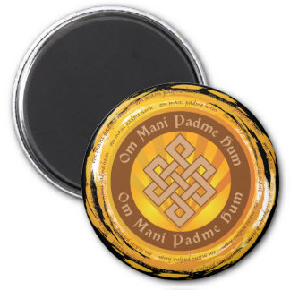 Tibetan Mantra Endless Knot Refrigerator Magnets