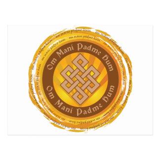 Tibetan Mantra Endless Knot Postcard