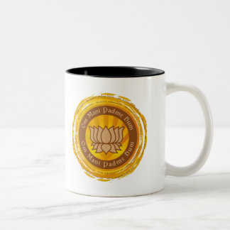 Tibetan Mantra Lotus Flower Two-Tone Coffee Mug