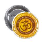 Tibetan Mantra with Aum Symbol 2 Inch Round Button
