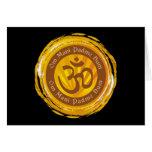Tibetan Mantra with Aum Symbol Greeting Cards