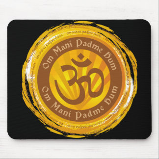 Tibetan Mantra with Aum Symbol Mouse Pad