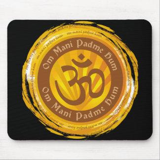Tibetan Mantra with Aum Symbol Mousepads