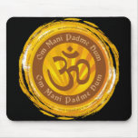 Tibetan Mantra with Aum Symbol Mousepads