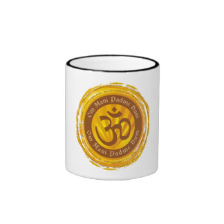 Tibetan Mantra with Aum Symbol Coffee Mugs