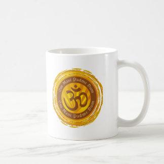 Tibetan Mantra with Aum Symbol Mugs