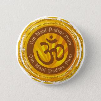 Tibetan Mantra with Aum Symbol Pinback Button