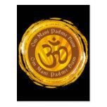 Tibetan Mantra with Aum Symbol Post Card