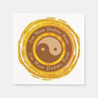 Tibetan Mantra Yin Yang Napkin
