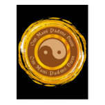 Tibetan Mantra Yin Yang Post Card