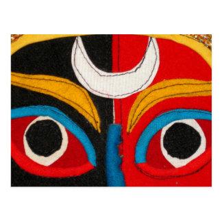 Tibetan Mask Postcard