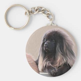 Tibetan Mastiff Basic Round Button Keychain