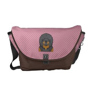 Tibetan Mastiff Cartoon Messenger Bag
