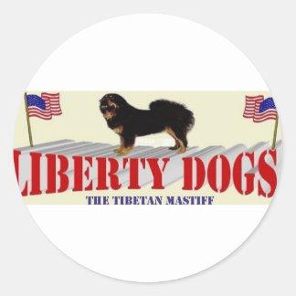 Tibetan Mastiff Classic Round Sticker