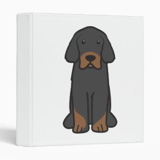 Tibetan Mastiff Dog Cartoon Binder