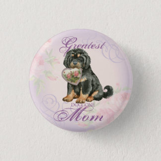 Tibetan Mastiff Heart Mom Pinback Button