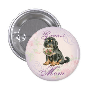 Tibetan Mastiff Heart Mom Pinback Button