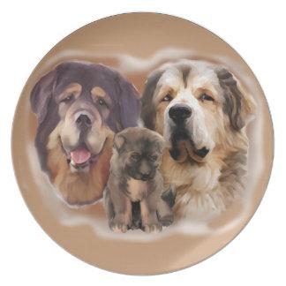 tibetan Mastiff plate