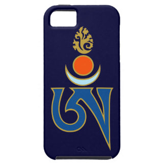 Tibetan Om Symbol with Sun, Moon, and Flame iPhone 5 Covers