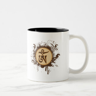 Tibetan Om Two-Tone Coffee Mug
